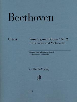 Ludwig van Beethoven - Sonata, opus 5 n ° 2 - Partition - di-arezzo.es