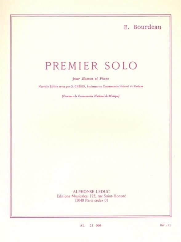 Premier solo pour basson et piano - Eugène Bourdeau - laflutedepan.com