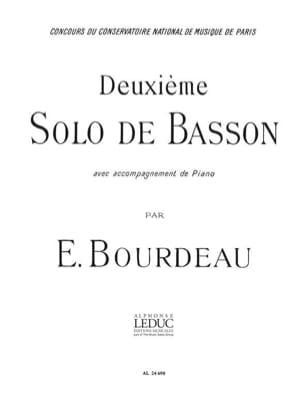 Deuxième solo de basson Eugène Bourdeau Partition laflutedepan
