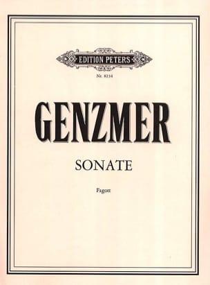 Sonate Harald Genzmer Partition Basson - laflutedepan