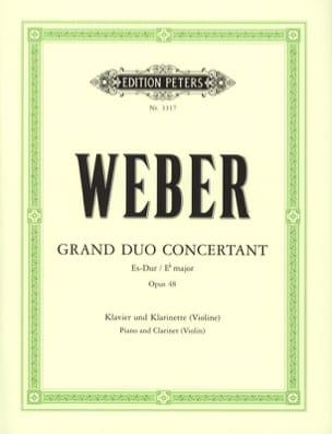 Grand duo concertant op. 48 Carl Maria von Weber laflutedepan