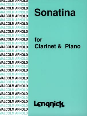 Sonatina Malcolm Arnold Partition Clarinette - laflutedepan