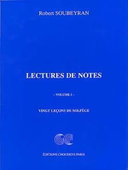 Lecture de Notes Volume 1 Robert Soubeyran Partition laflutedepan