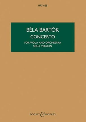 Viola Concerto op. posth vers. Serly - Score BARTOK laflutedepan