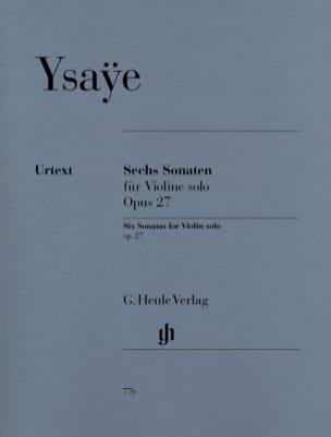Six Sonates op. 27 Eugène Ysaÿe Partition Violon - laflutedepan