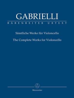 The Complete Works for Cello - Domenico Gabrielli - laflutedepan.com