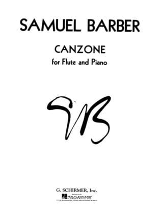 Canzone - BARBER - Partition - Flûte traversière - laflutedepan.com