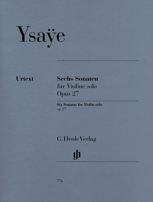 Six Sonates op. 27 - Eugène Ysaÿe - Partition - laflutedepan.com