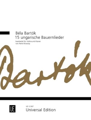 15 Ungarische Bauernlieder - Violine BARTOK Partition laflutedepan