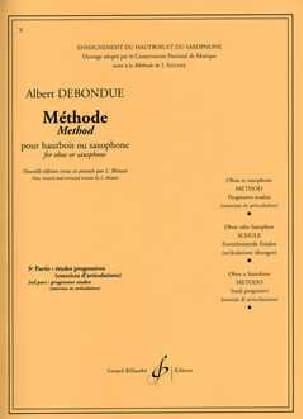 Méthode de Hautbois ou saxo - Volume 3 Albert Debondue laflutedepan