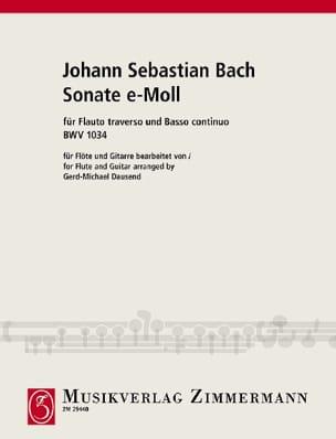 Sonate e-moll BWV 1034 - Flöte Gitarre BACH Partition laflutedepan