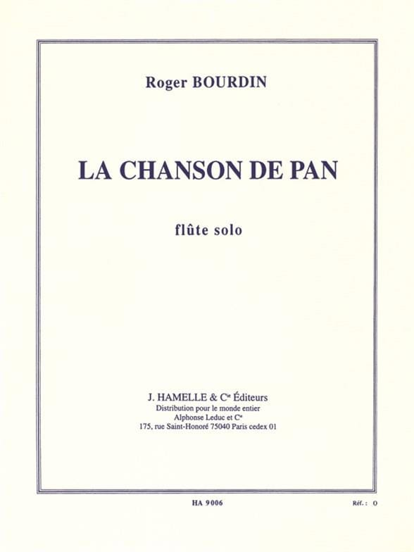 La chanson de Pan - Roger Bourdin - Partition - laflutedepan.com