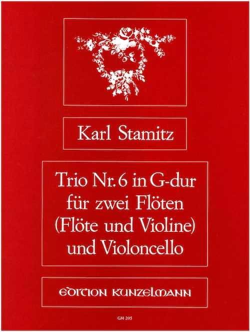 Trio Nr. 6 G-Dur-2 Flöten Violoncello - STAMITZ - laflutedepan.com