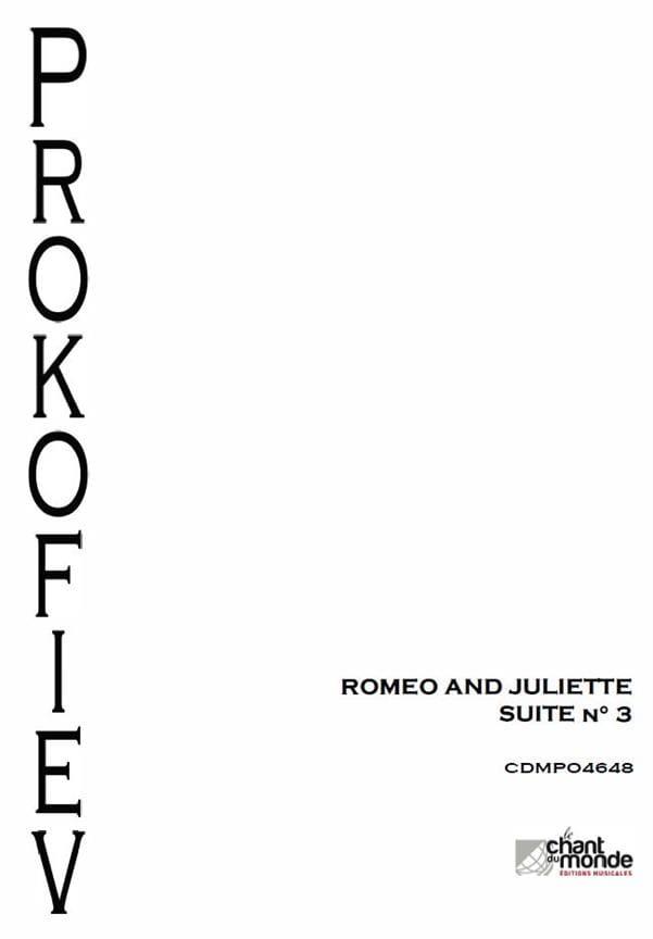 Roméo et Juliette - Suite d'Orchestre N° 3 Opus 101 - laflutedepan.com