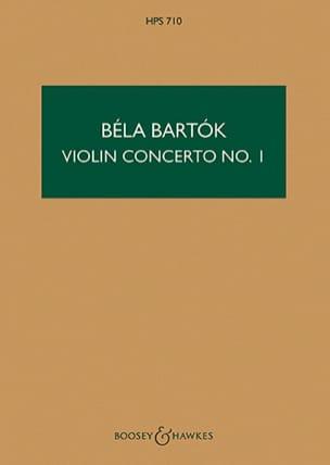 Violin Concerto n° 1 - Score BARTOK Partition laflutedepan