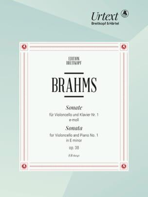 Sonate n° 1 E-Moll op. 38 BRAHMS Partition Violoncelle - laflutedepan