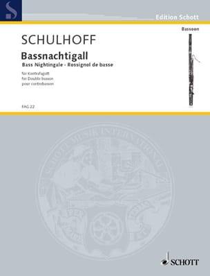 Bassnachtigall -Kontrafagott Erwin Schulhoff Partition laflutedepan