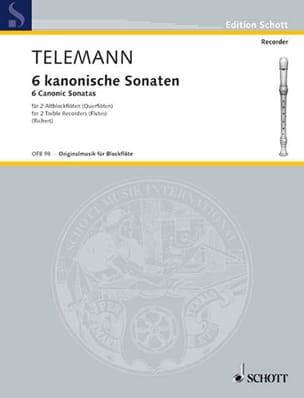 6 Sonaten im Kanon TELEMANN Partition Flûte à bec - laflutedepan