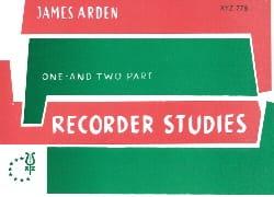 Recorder studies James Arden Partition Flûte à bec - laflutedepan