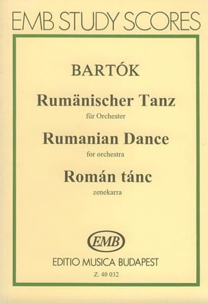 Rumänischer Tanz Orchester - Partitur BARTOK Partition laflutedepan