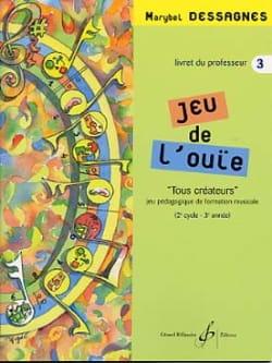 Jeu de L'ouïe Volume 3 - Prof - Marybel Dessagnes - laflutedepan.com