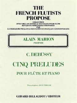 5 Préludes DEBUSSY Partition Flûte traversière - laflutedepan