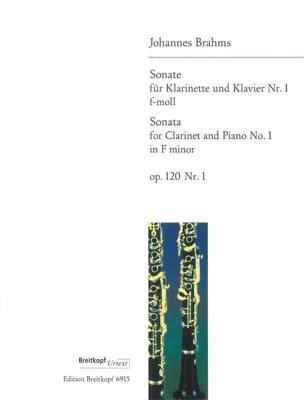 BRAHMS - Sonata Nr. 1 f-moll op. 120/1 - Klarinette Klavier - Partition - di-arezzo.com