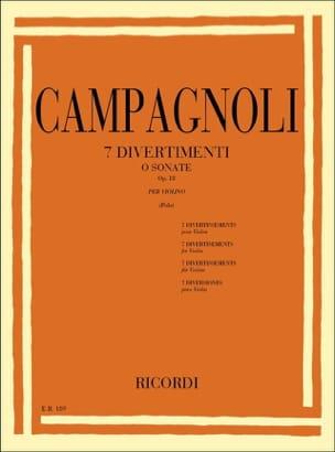 7 Divertimenti op. 18 Bartolomeo Campagnoli Partition laflutedepan