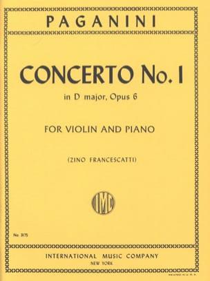 Concerto n° 1 in D major, op. 6 Francescatti PAGANINI laflutedepan