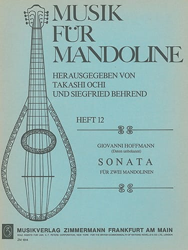 Sonata für 2 Mandolinen - Giovanni Hoffmann - laflutedepan.com