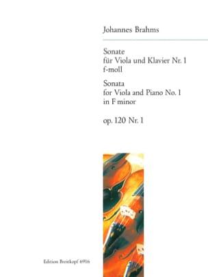 BRAHMS - Sonata No. 1 f-moll, op. 120 n ° 1 - Partition - di-arezzo.com