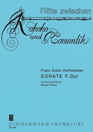 Sonate F-Dur -Flöte Klavier HOFFMEISTER Partition laflutedepan