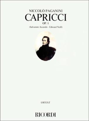 Capricci op. 1 PAGANINI Partition Violon - laflutedepan