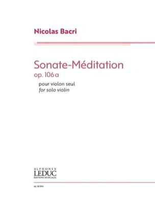 Sonate-Méditation, op. 106a Nicolas Bacri Partition laflutedepan