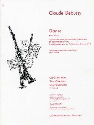 Danse - DEBUSSY - Partition - Clarinette - laflutedepan.com