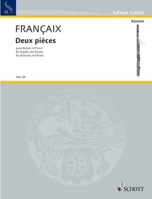 2 Pièces FRANÇAIX Partition Basson - laflutedepan