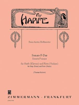 Sonate F-Dur - Harfe Klavier u. Flöte Violine HOFFMEISTER laflutedepan