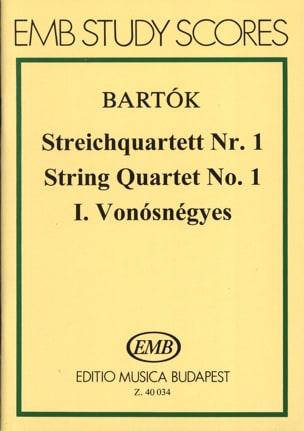 Quatuor à cordes n° 1 - Score BARTOK Partition laflutedepan