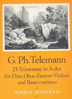 Triosonate Nr. 23 A-Dur -Flöte Oboe d'amore Bc TELEMANN laflutedepan