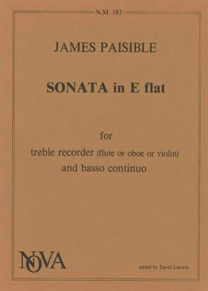 Sonata in E flat James Paisible Partition Flûte à bec - laflutedepan