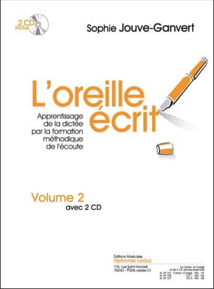 L' Oreille Ecrit - Volume 2 + 2 CDs Sophie Jouve-Ganvert laflutedepan