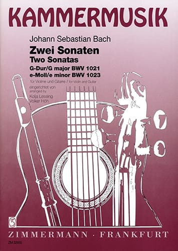 2 Sonates - Violine Gitarre - BACH - Partition - 0 - laflutedepan.com