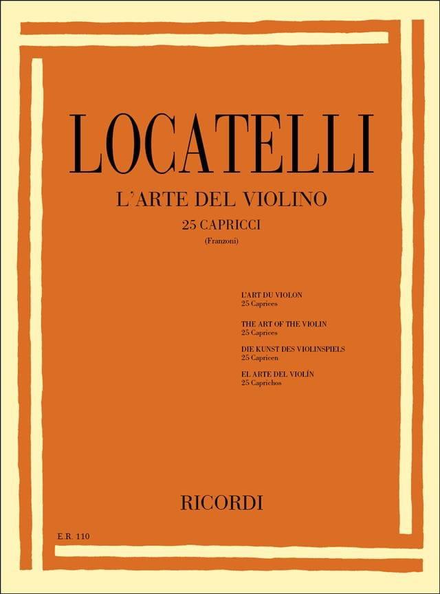 L'art du violon - 25 Caprices - LOCATELLI - laflutedepan.com