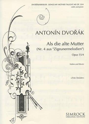 Songs my mother taught me op. 55 n° 4 - DVORAK - laflutedepan.com