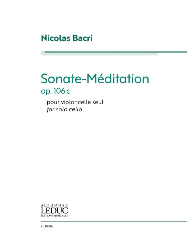 Sonate-Méditation, op. 106c - Nicolas Bacri - laflutedepan.com