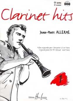 Clarinet Hits Volume 1 - Livre Jean-Marc Allerme laflutedepan