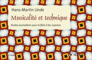 Musicalité et Technique Hans-Martin Linde Partition laflutedepan