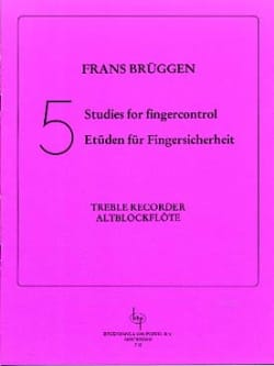 5 Studies For Fingercontrol Frans Brüggen Partition laflutedepan