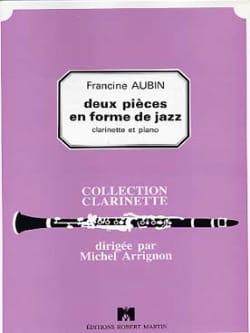 2 Pièces en forme de jazz Francine Aubin Partition laflutedepan