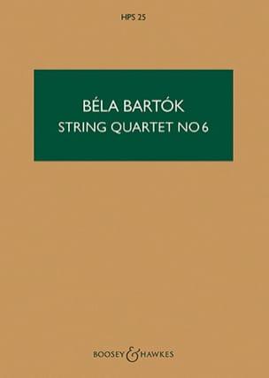 Quatuor à cordes n° 6 - Score BARTOK Partition laflutedepan